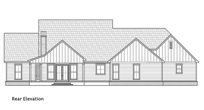 Piney Bluff House | Rear Elevation
