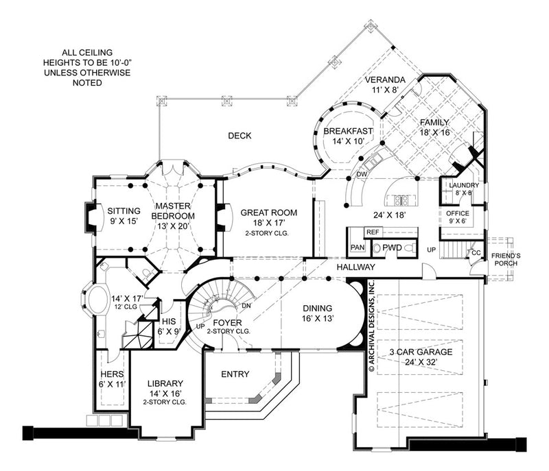 Pontarion II first floor, floor plan