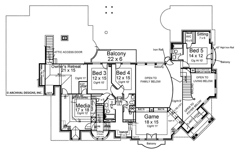 Positano second floor, floor plan