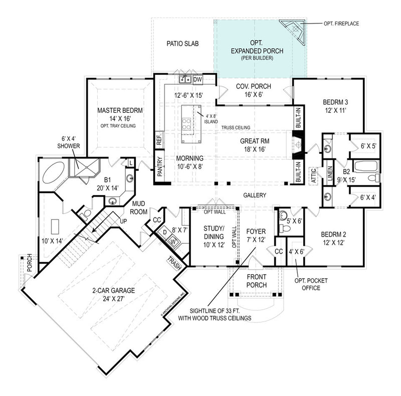 Presente first floor, floor plan