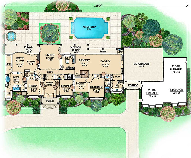 Presidential Estate, first floor plan