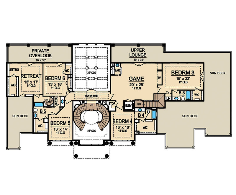 Presidential Estate, second floor plan