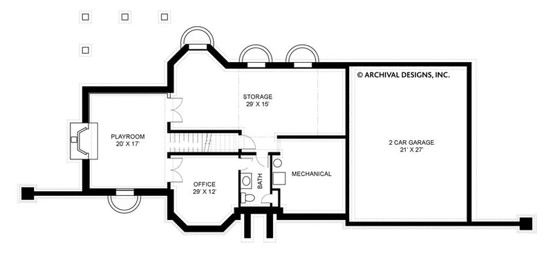 Pressley Place basement floor plan