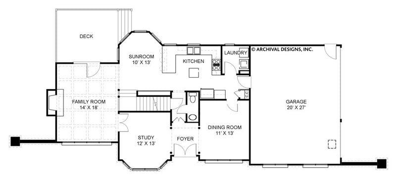 Pressley Place first floor, floor plan