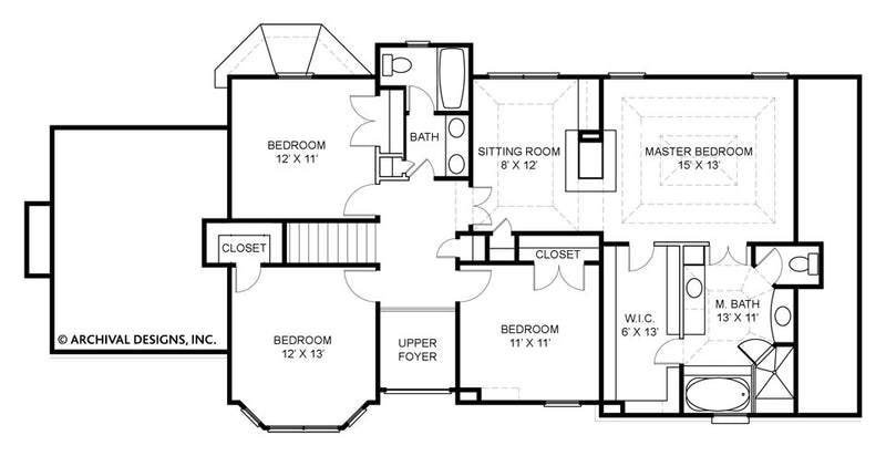Pressley Place second floor, floor plan
