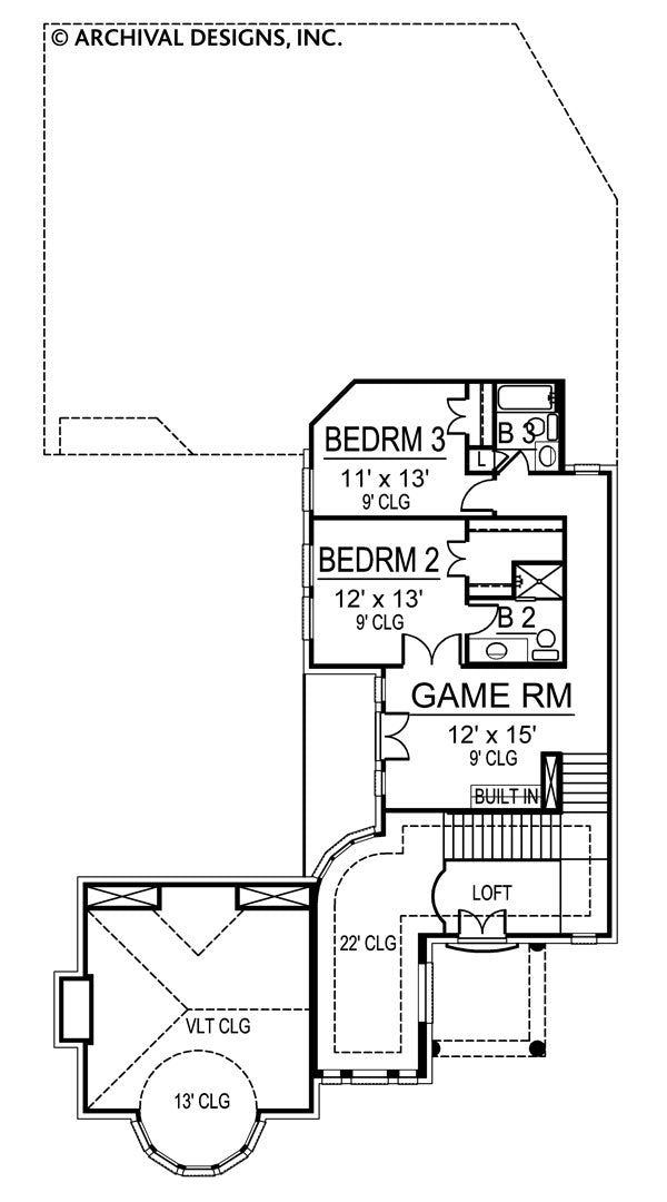 Prestonwood second floor, floor plan