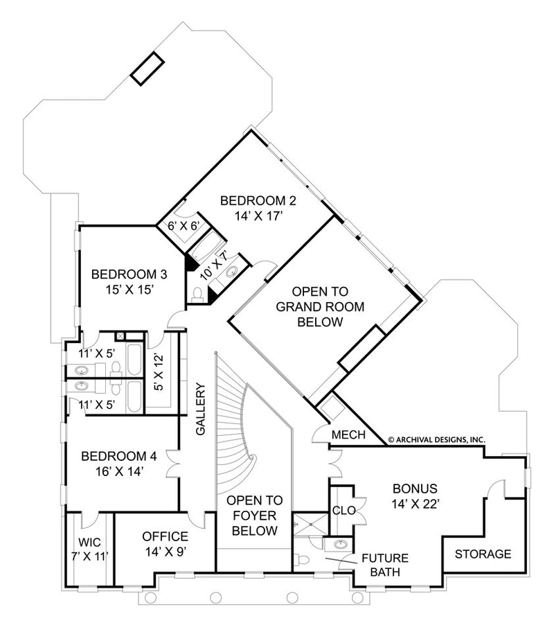 Raewood second floor, floor plan