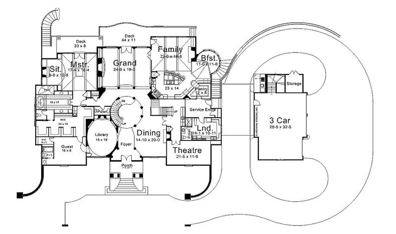 Ramboulett first floor, floor plan