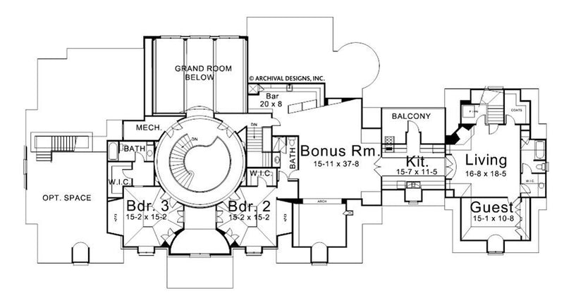 Ramboulett second floor, floor plan