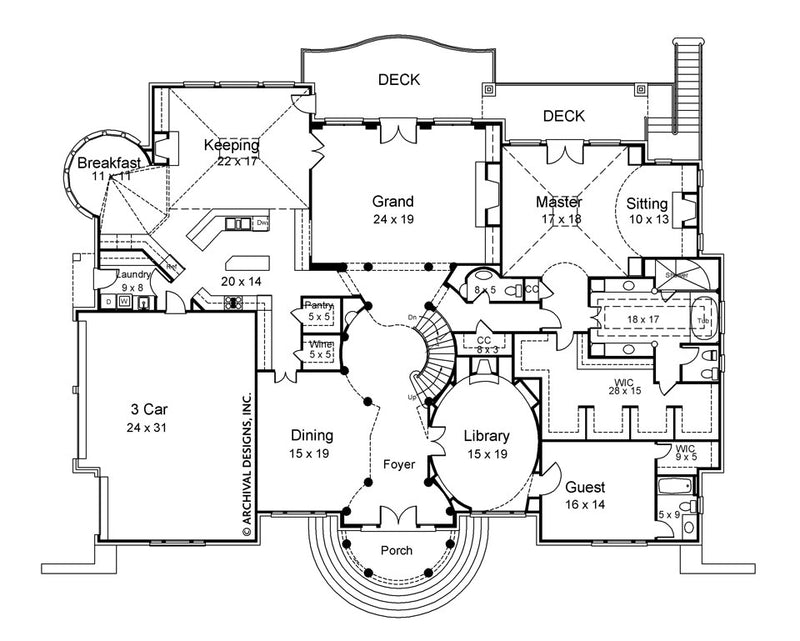 Regency first floor, floor plan