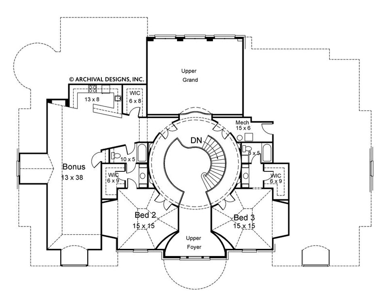 Regency second floor, floor plan