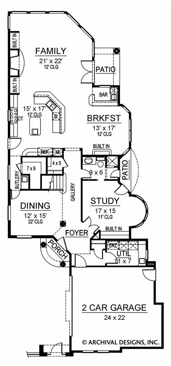 Revere first floor, floor plan