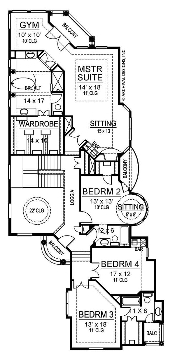 Revere second floor, floor plan