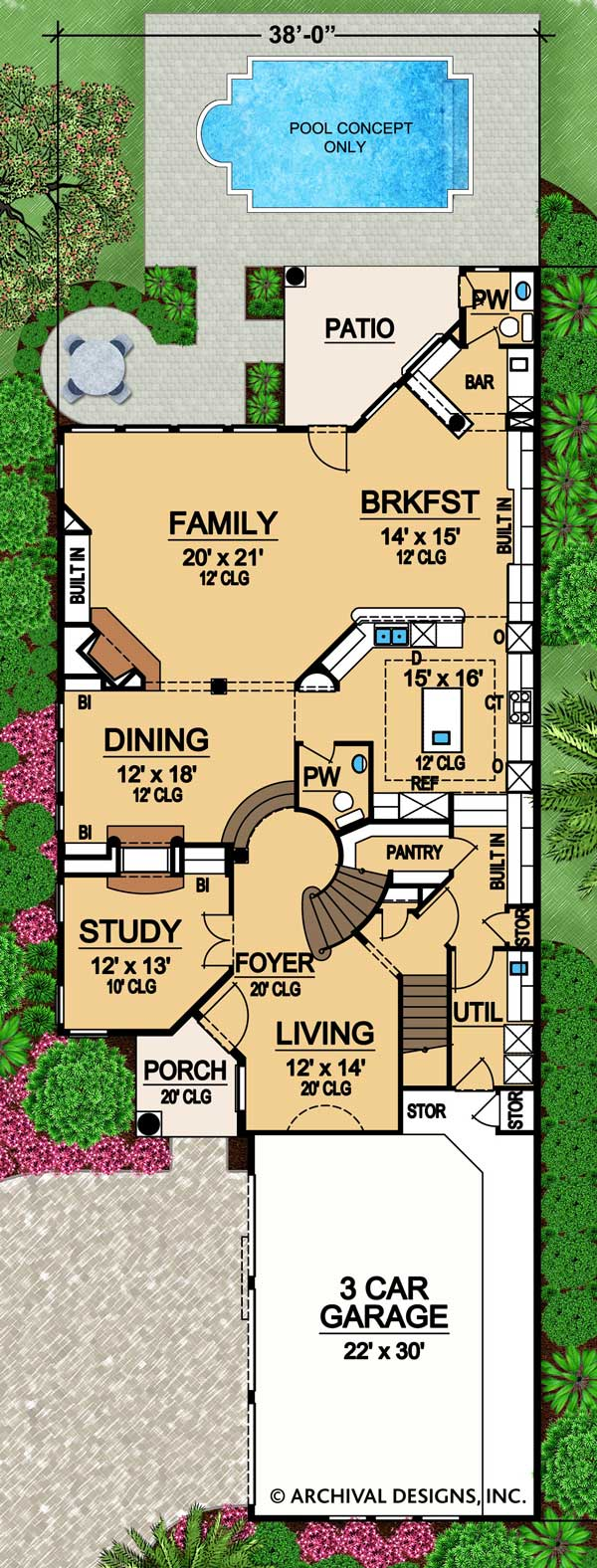 Rhodes Ranch Deux first floor ,floor plan