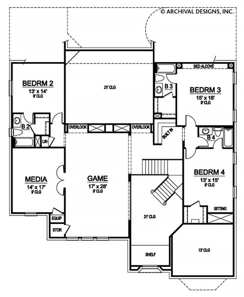 Richmond Grove second floor , floor plan