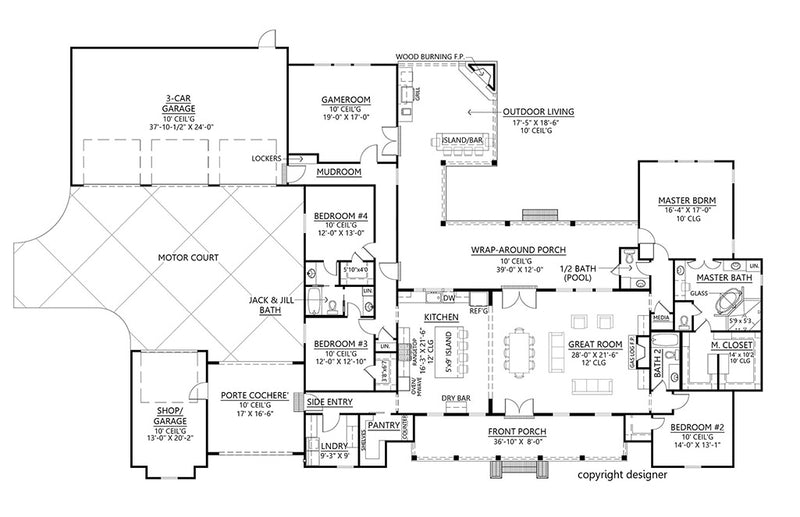 Richmond Hill House - First Floor Plan