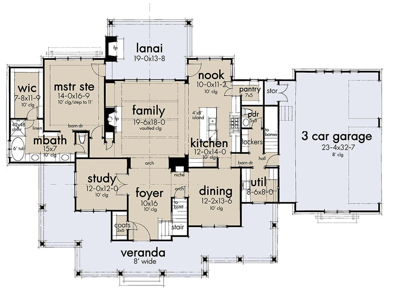 Riverview Farm, first floor plan