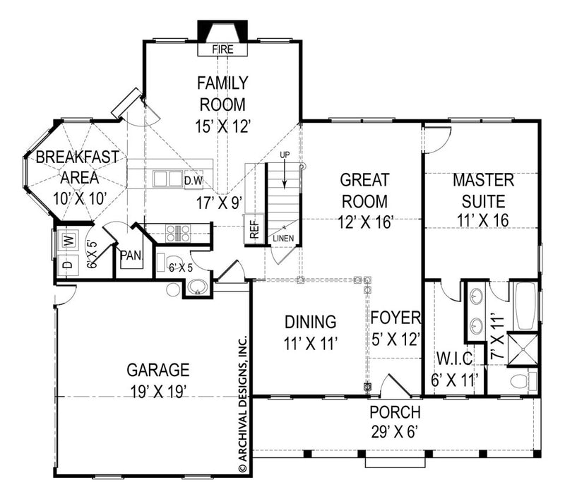Robins Nest first floor, floor plan