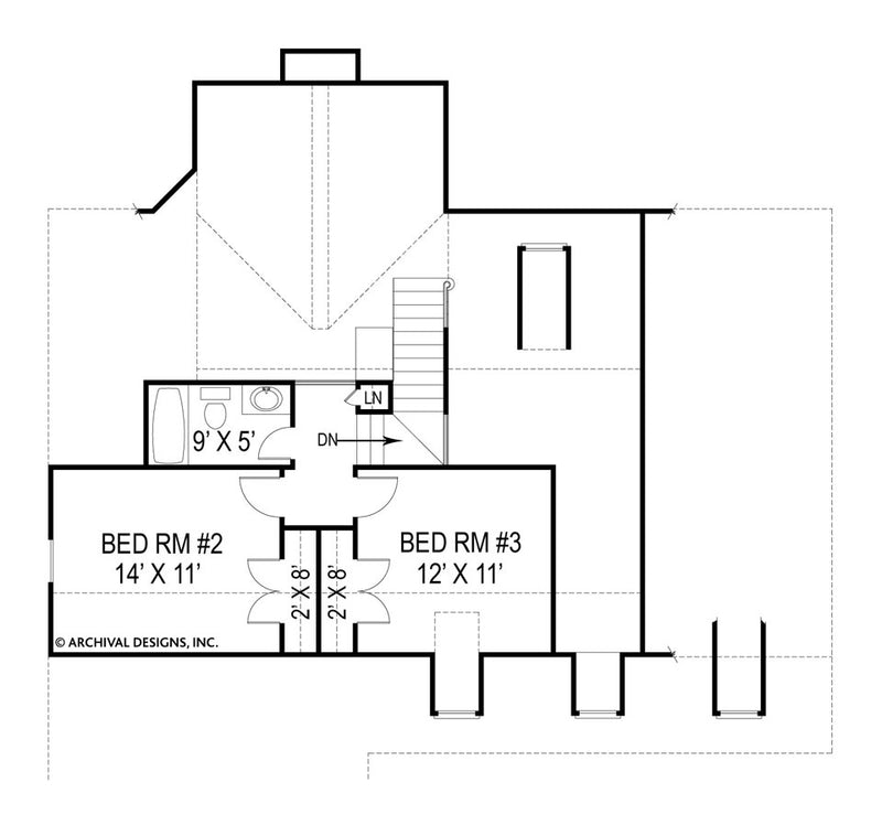 Robins Nest second floor ,floor plan
