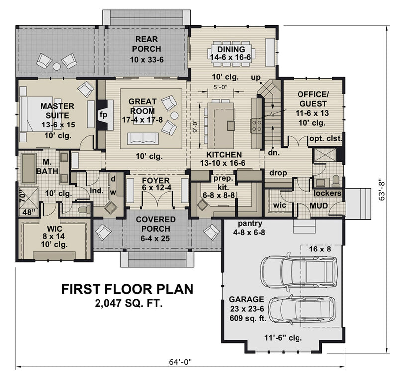 Rock Creek House | First Floor Plan