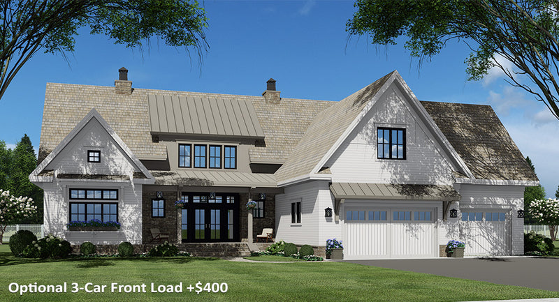 Rock Creek House | Optional 3-Car Front Load
