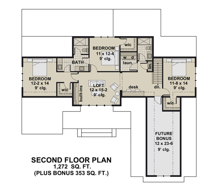 Rock Creek House | Second Floor Plan