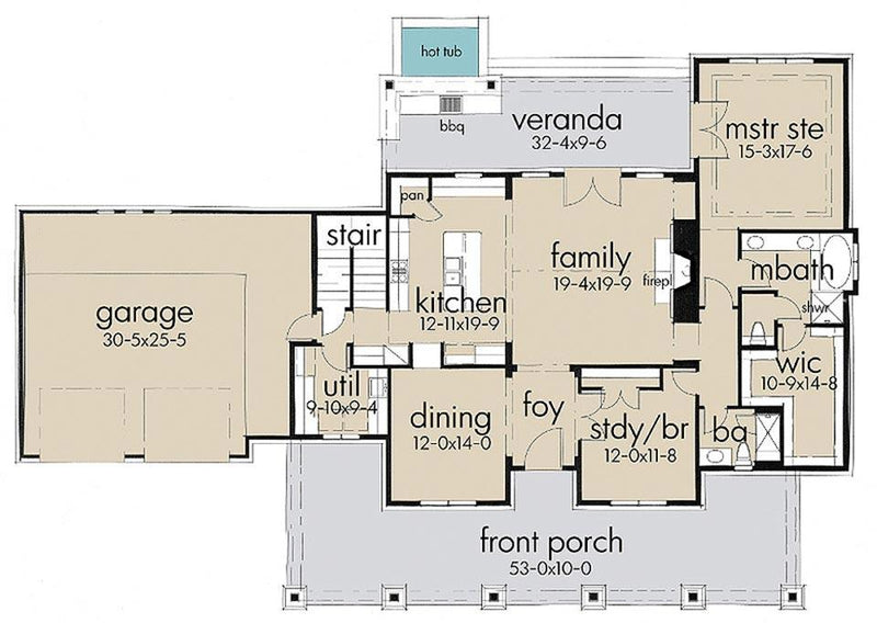 Rockin Horse Farm first floor plan