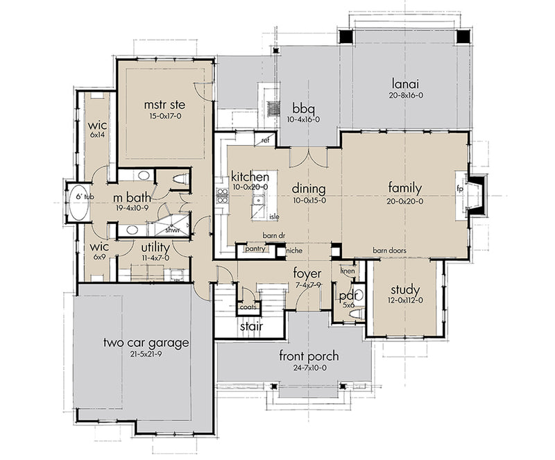 Rolling Wood Hills, first floor plan