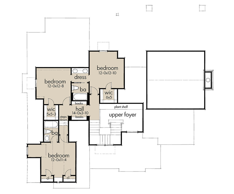 Rolling Wood Hills, second floor plan