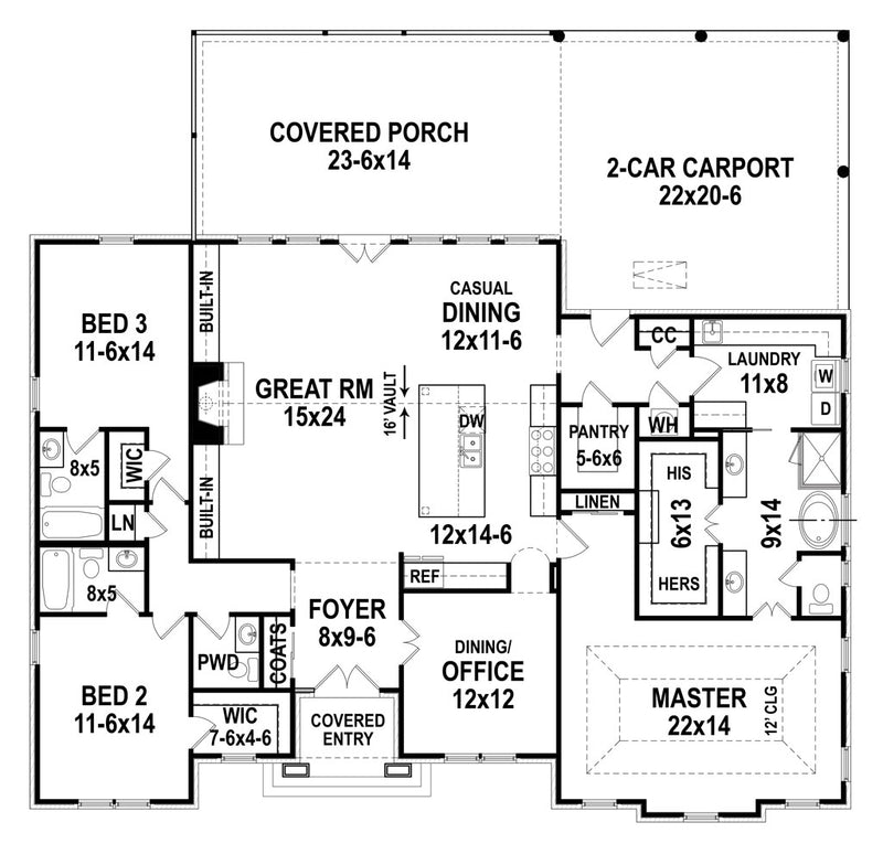 Rosemary Park House | First Floor Plan