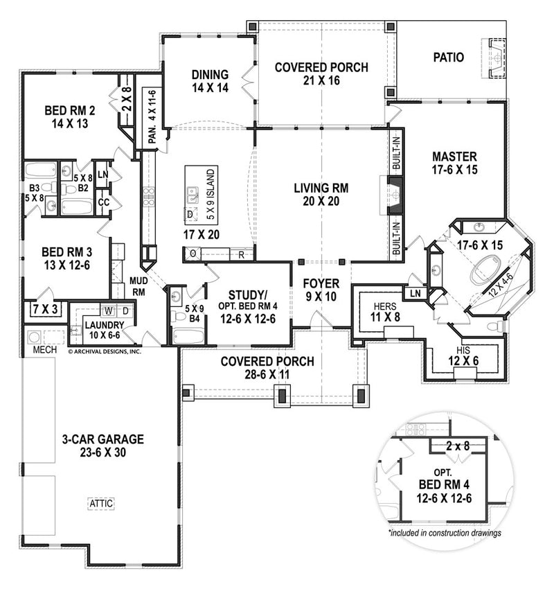 Rosie Ranch first floor, floor plan