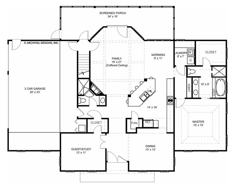 Roslyn first floor, floor plan