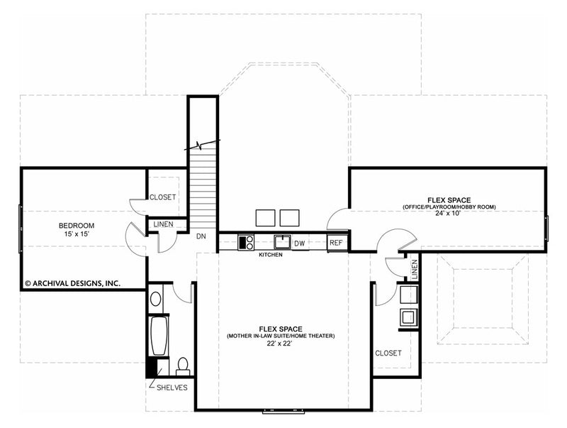 Roslyn second floor , floor plan
