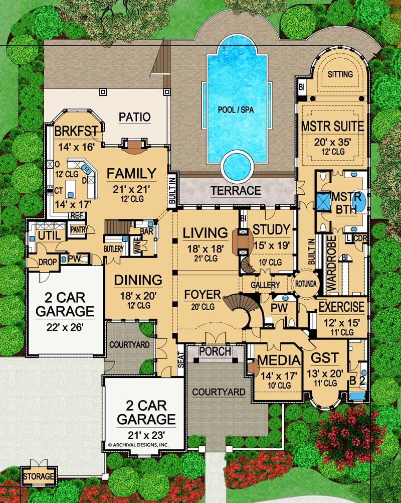 Royal Birkdale first floor, floor plan