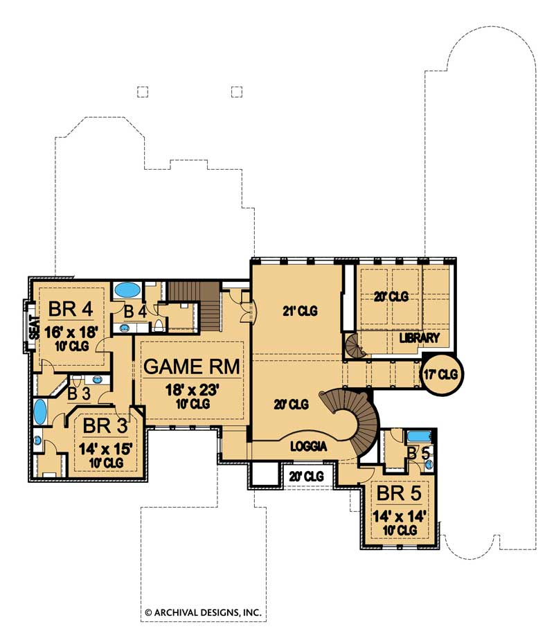 Royal Birkdale second floor, floor plan