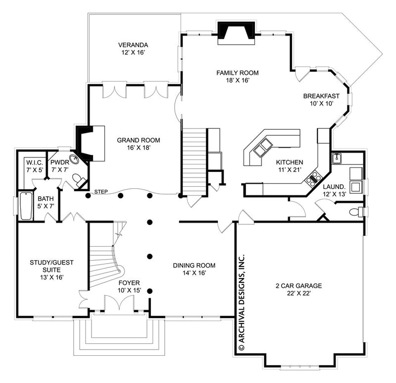 Russborough first floor, floor plan