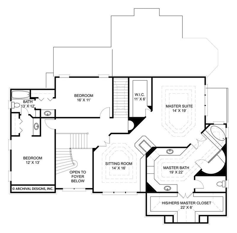 Russborough second floor, floor plan