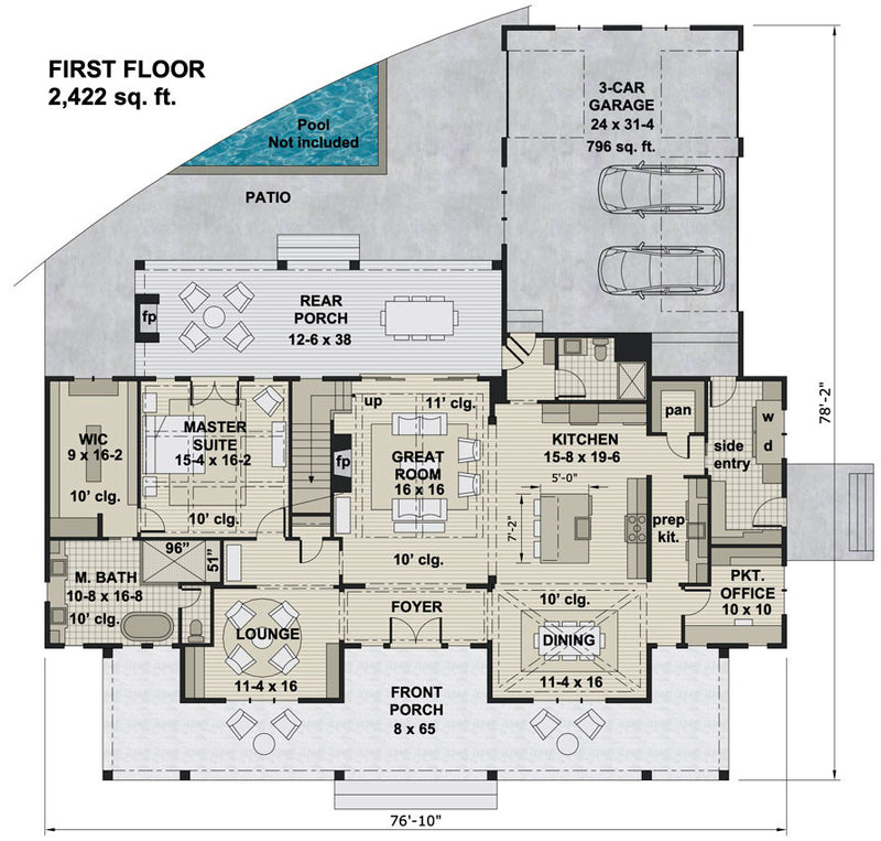 Ruth Ann Farmhouse | First Floor Plan