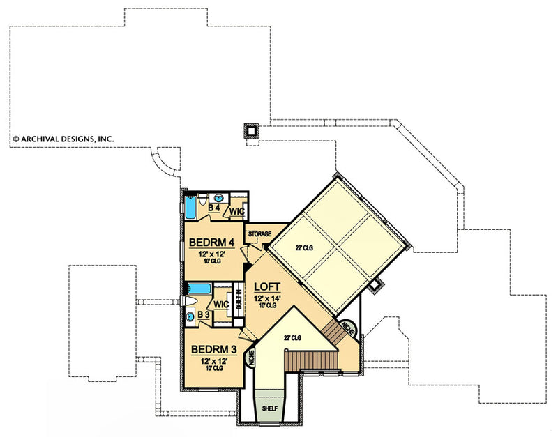 Stoneleigh Heights second floor, floor plan