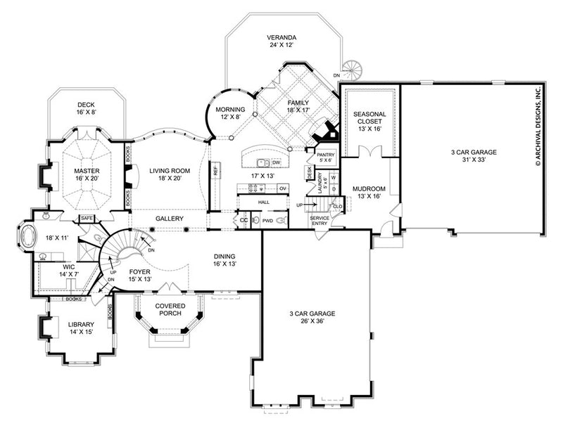 SaintAugustine first floor, floor plan