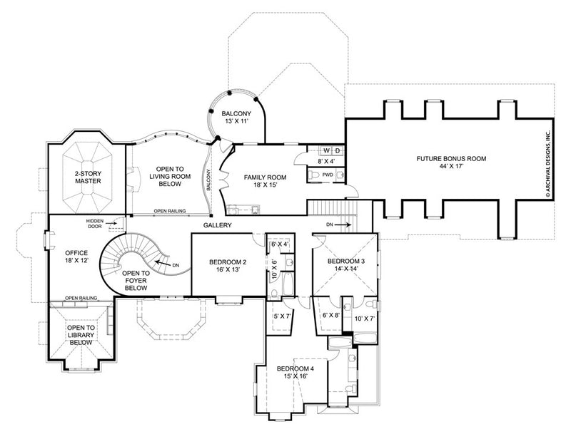 SaintAugustine second floor, floor plan