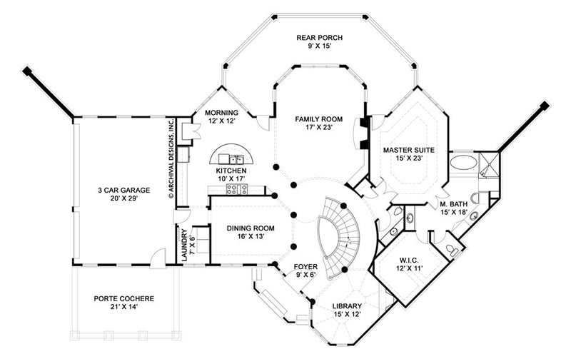 Salem first floor, floor plan