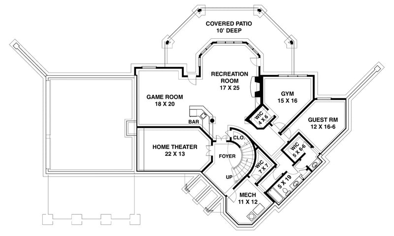 Salem Place | Basement Floor Plan