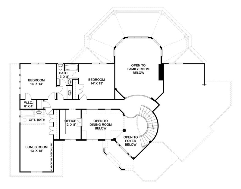 Salem second floor, floor plan