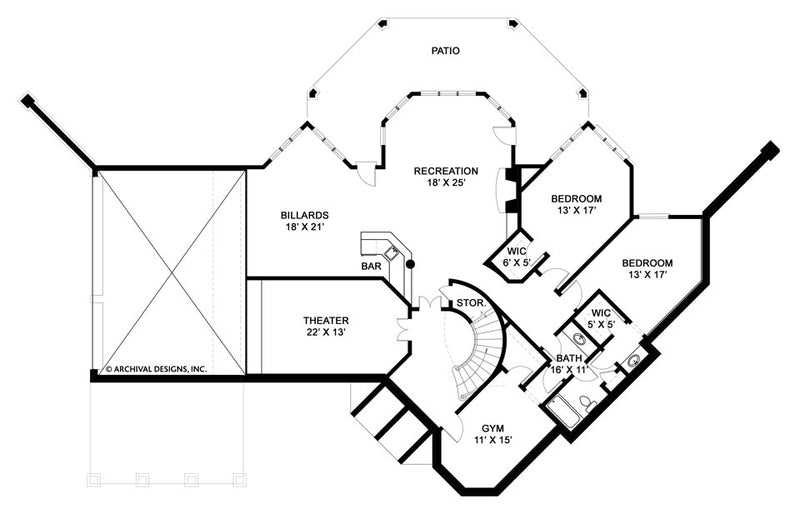 Salem basement floor plan