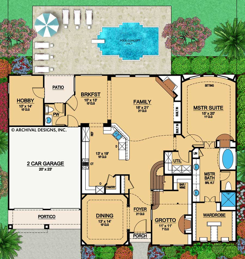 Sandy Dune first floor, floor plan