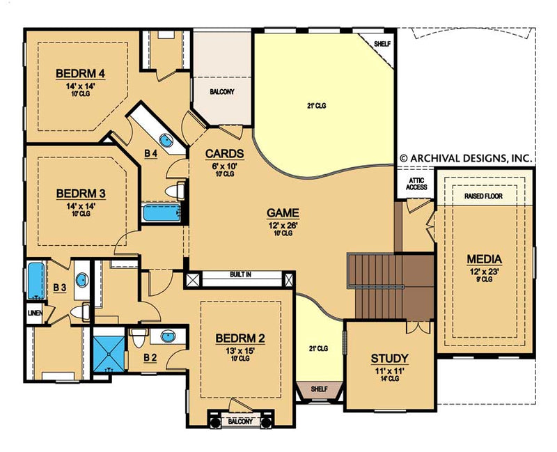 Sandy Dune second floor, floor plan