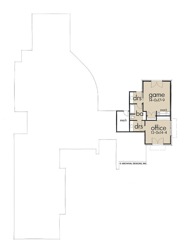 Santa Catalina lower level floor plan