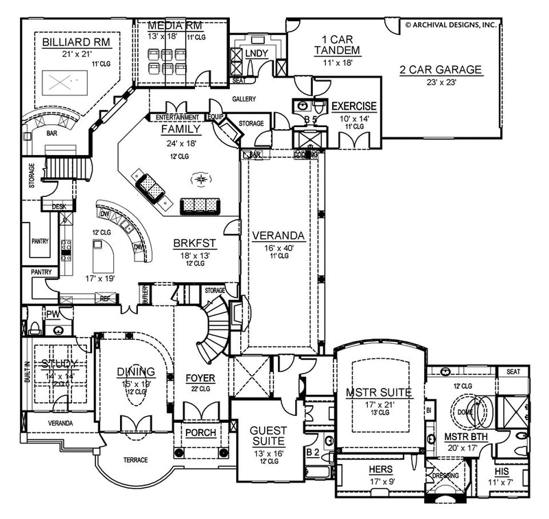 Santorini first floor, floor plan