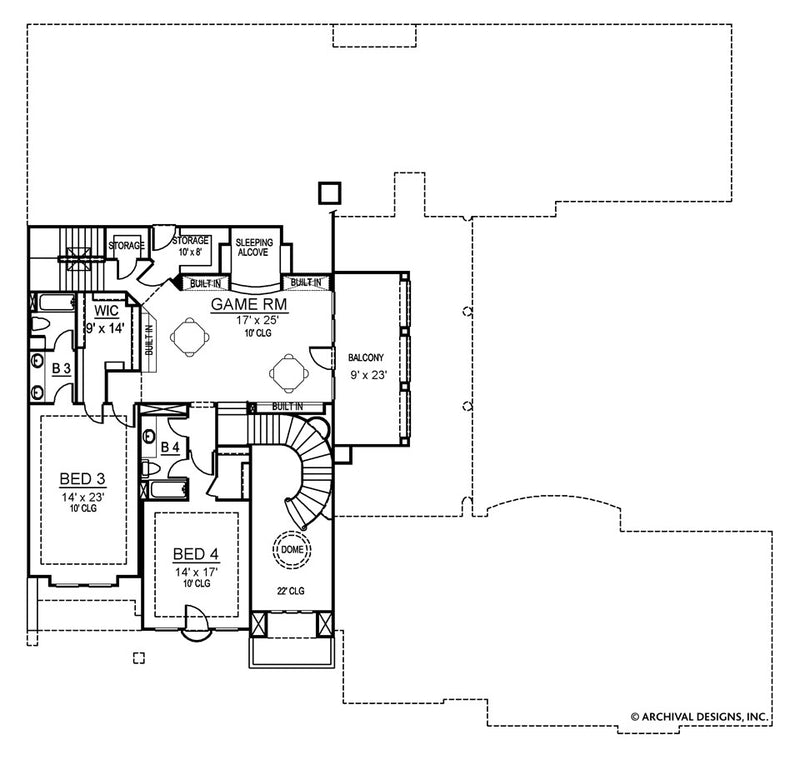 Santorini second floor , floor plan